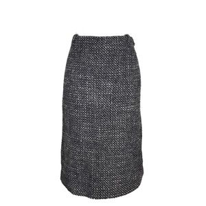 Max Mara Pencil Skirt Black Tweed Career